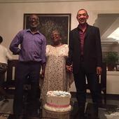 Photos: Ben Murray Bruce Kisses Okonjo Iweala On her Birthday