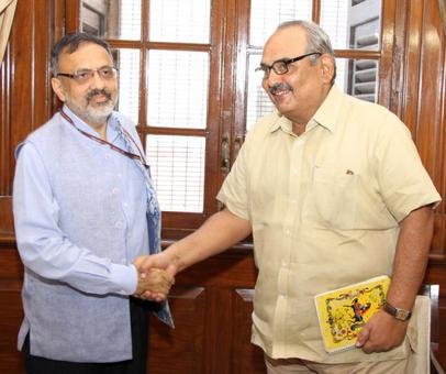 Rajib Gauba takes charge as home secretary