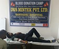DBS Mintek holds blood donation camp