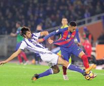 Barca fall six points behind Real after draw