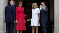 Video: 'You're in such good shape,' says US Prez Trump to French first lady Brigitte Macron