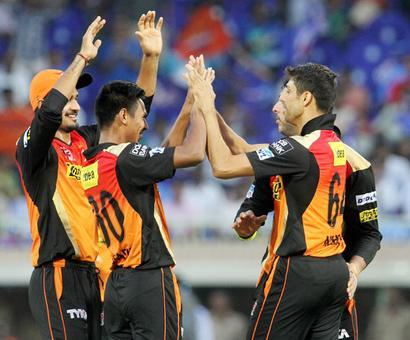 IPL PHOTOS: Sunrisers thump Mumbai Indians by 85 runs to go top