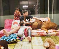 Lionel Messi's pet dog is the ruler at his home