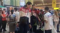 Rio 2016: Russia team depleted by drugs ban gathers at airport