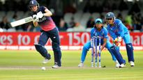 India pick a wicket out of no where!Jhulan bowls it down the leg side but Sarah Taylor gets a faint edge as she tries to flick the ball. Keeper Sushma Verma does the rest.The umpire took his time but raised his finger eventually.Taylor walked off without