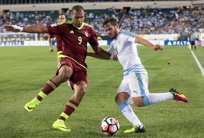 Copa America: Venezuela win puts Suarez-less Uruguay on the brink of exit