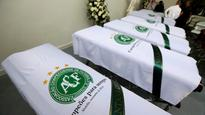 Dozens of hearses needed as Brazil's Chapecoense plane crash victims begin final journey
