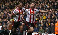Sunderland down Norwich