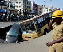 Chennai's Anna Salai witnesses ruptures again; commuters fear another cave-in