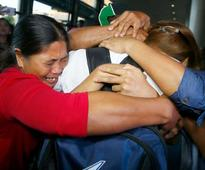 Image of Asia: Welcoming home sailors held by pirates
