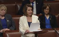 Nancy Pelosi digs her heels in to defy Donald Trump on immigration with record eight-hour speech