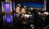 Ducati Hypermotard Lands At Jimmy Kimmel Live Promoting CHiPs Film