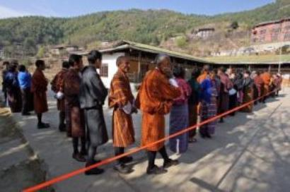 Bhutan's fledgling democracy goes to the polls on Tuesday