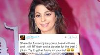 Juhi Chawla asked people on Twitter to tell her jokes and this is what happened