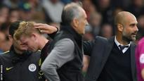 Kevin de Bruyne: Manchester City to assess midfielder's hamstring injury
