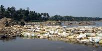 Temporary bridge across the Kabini riles conservationists