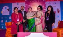 Dr Anamika gets Vani's Distinguished Translator award at JLF