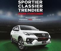 Toyota rolls out Fortuner TRD Sportivo at Rs 31 lakh