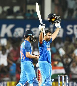 PHOTOS: Ton-up Rohit guides India to 7-wicket win over Australia in Nagpur