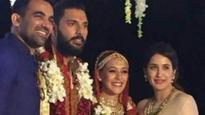 Zaheer Khan, Chak De girl Sagarika Ghatge at Yuvraj Singh-Hazel Keech wedding