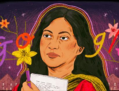 Google doodle honours poet Kamala Das
