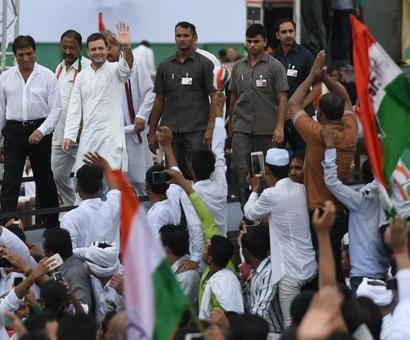 Rahul sounds poll bugle in UP, attacks rivals