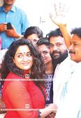 Released from jail, Dileep's filmy reunion with family