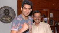 Vijender Singh invites CM Kejriwal for WBO Asia title fight in Delhi