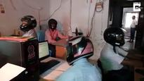 Indian Office Workers Forced to Wear Motorcycle Helmets Because Roof Keeps Falling