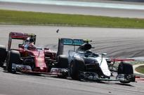 F1 Malaysian GP: Raikkonen's Ferrari Damaged after Rosberg Shunt