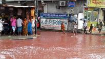 Rivers of blood run through Bangladesh after animal sacrifices combined with heavy rains