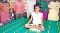 Tiruchy girl creates new yoga feat