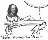 How Benjamin Franklin Invented A Weight Loss Program, Using Balloons