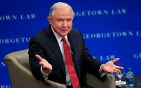 Jeff Sessions says 'free speech' is under attack as he faces protests at Georgetown University