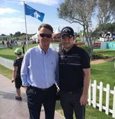 Former Manchester United boss Louis van Gaal enjoys Portugal Masters golf tournament alongside pros