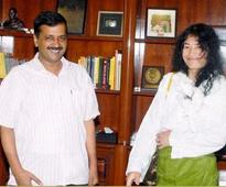 Delhi Chief minister Arvind Kejriwal assures support to  Irom Chanu Sharmila in Manipur elections