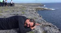 WATCH: American dad epically faces his fear of heights on the Aran Islands