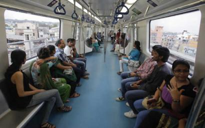 Metro services stopped for 1 hour after spark in train