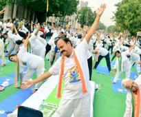 Rains fail to dampen Yoga Day celebrations in Delhi, 15,000 gather at DDA parks, 10k at CP