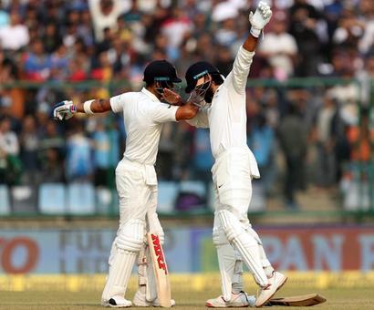 PHOTOS: Kohli, Vijay hit centuries as India dominate Day 1