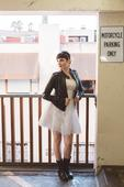19 Fly-As-Hell Brides Who Rocked A Leather Jacket With A Wedding Dress