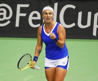 Fed Cup: Dutch shock Russia to semis; Czechs, Swiss through