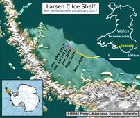 The huge crack in this Antarctic ice shelf grew by 6 miles in just over two weeks