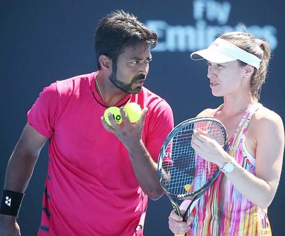 India at Australian Open: Paes-Hingis pair out