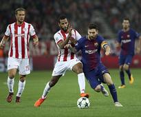 Champions League: Barcelona held to a goalless draw by Greek champions Olympiakos