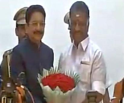 AIADMK merger: O Panneerselvam sworn in as deputy CM