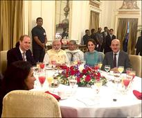 Anupam Khers lunch with Royal Highness Duke and Duchess of Cambridge