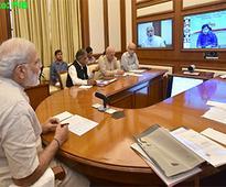 Prime Minister Narendra Mod iinteraction through PRAGATI