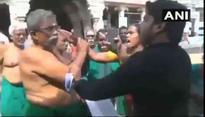 Tamil Nadu: Farmer, BJP leader clash in open