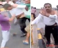 Judge thrashed on road by angry mob after his car hit a boy  Video
